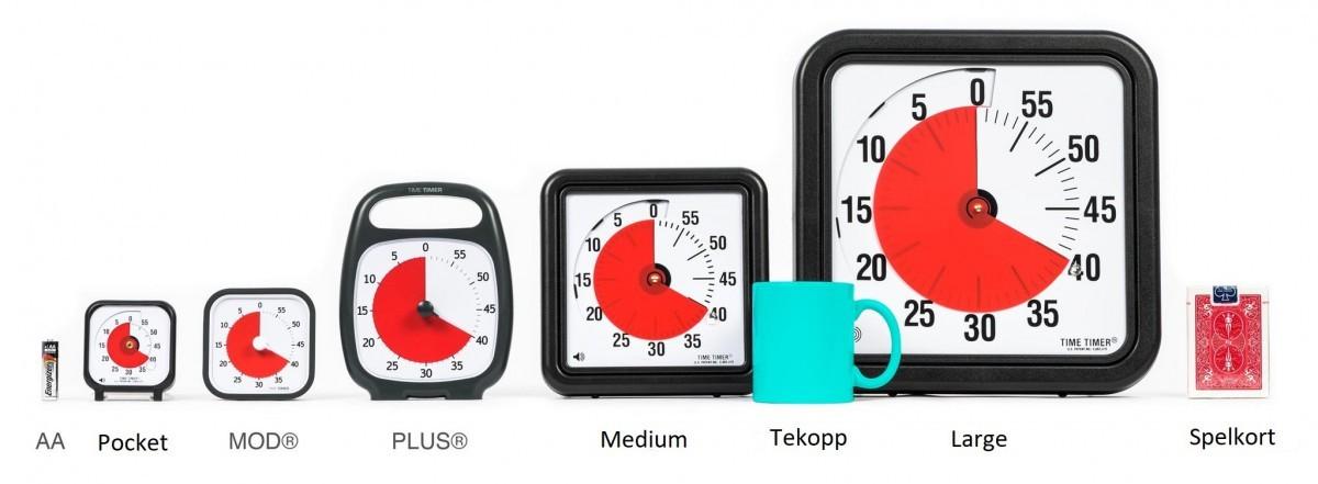 Time Timer Plus, vit 120 min. Nyhet!
