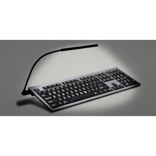 Logickeyboard NERO svart på gul hög kontrast