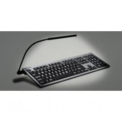 Logickeyboard NERO vit på svart hög kontrast