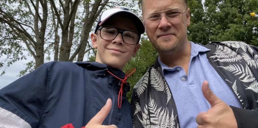 william och hans pappa Carl