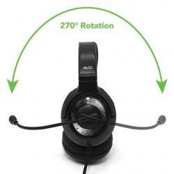 avid headset svart 15-pack